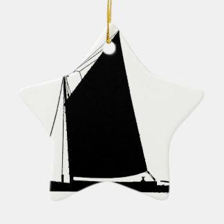 1898 Norfolk Wherry - tony fernandes Ceramic Star Ornament