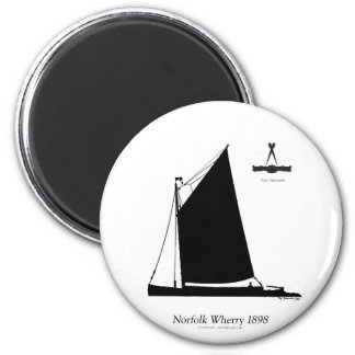 1898 Norfolk Wherry - tony fernandes Magnet