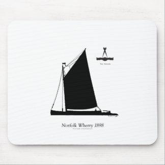 1898 Norfolk Wherry - tony fernandes Mouse Pad