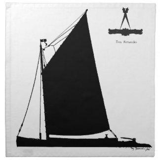 1898 Norfolk Wherry - tony fernandes Napkin