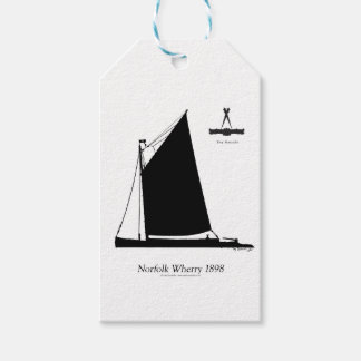 1898 Norfolk Wherry - tony fernandes Pack Of Gift Tags