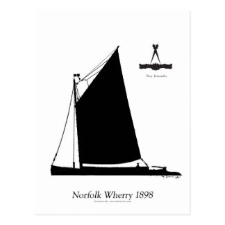 1898 Norfolk Wherry - tony fernandes Postcard