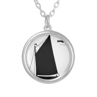 1898 Norfolk Wherry - tony fernandes Silver Plated Necklace