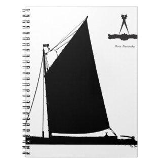 1898 Norfolk Wherry - tony fernandes Spiral Notebook