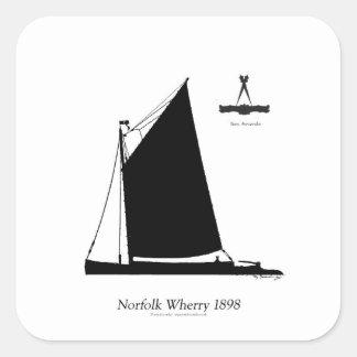 1898 Norfolk Wherry - tony fernandes Square Sticker