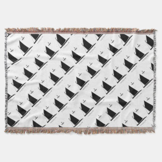 1898 Norfolk Wherry - tony fernandes Throw Blanket
