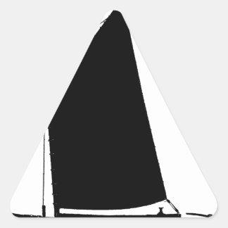 1898 Norfolk Wherry - tony fernandes Triangle Sticker