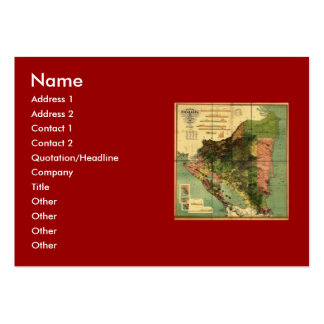 1898 Official Map of Nicaragua Large Business Card