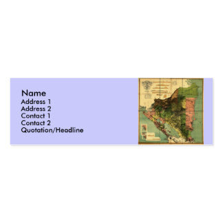 1898 Official Map of Nicaragua Mini Business Card