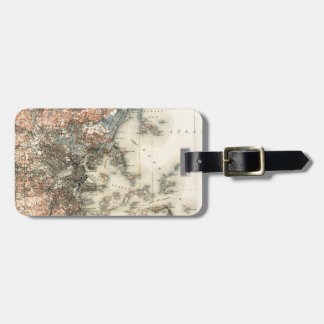 1898 Topographical Map of Boston Massachusetts Luggage Tag