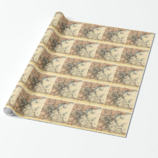 1898 Topographical Map of Boston Massachusetts Wrapping Paper