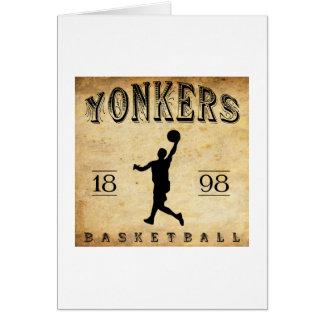 1898 Yonkers New York Basketball Card