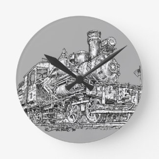 1899 Heisler Steam Engine Wallclock