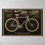1899 Vintage Manson Bicycle Ad Art Poster