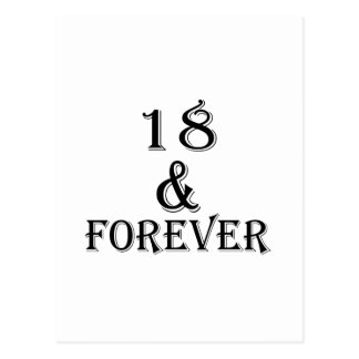 18 And  Forever Birthday Designs Postcard