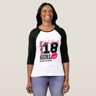 18. Birthday 18th birthday girl pink Kiss T-Shirt