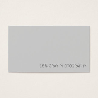 18% Gray Card Photographer QR Code Business Card