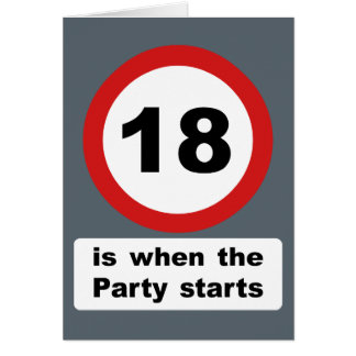 18 is when the Party Starts Card