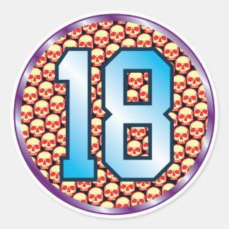 18 Skulls Age Classic Round Sticker
