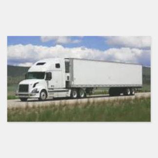 18 Wheeler Freight Truck on a sticker