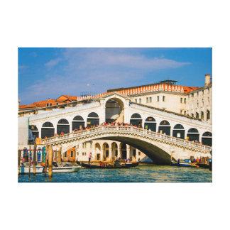 """18"""" x 12.5"""", .75"""", Canvas of The Rialto Bridge"""