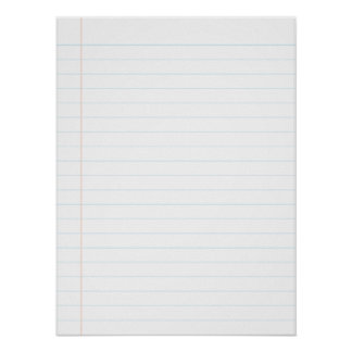 """18""""x 24"""", large notebook page poster"""