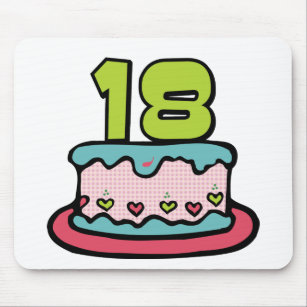 18 Year Old Birthday Cake Mouse Pad