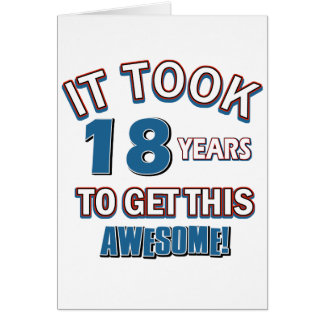 18 year old birthday designs card