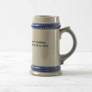 18oz gris/bleu Stein de mariage fait sur commande Chope À Bière
