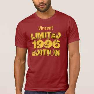 18th 19th or Any Year 1996 Birthday Ltd Ed A02 Tshirt
