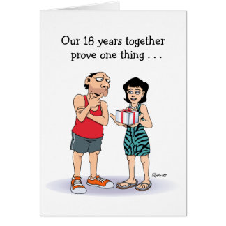 18th Anniversary Card: Love Card