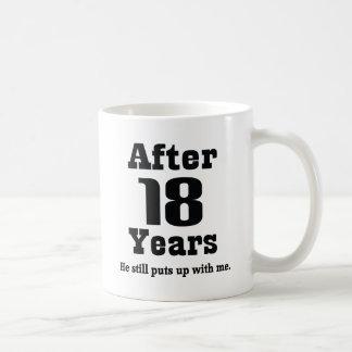 18th Anniversary Funny Mug