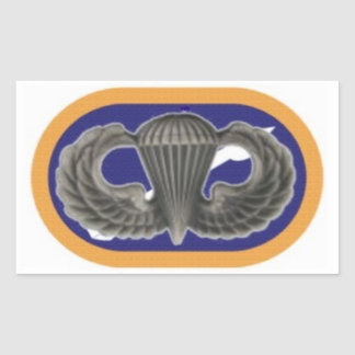 18TH AVIATION BDE Jump Wings on Oval Stickers