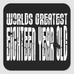 18th Birthday 18 Worlds Greatest Eighteen Year Old Stickers