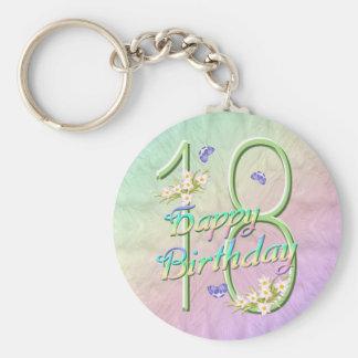 18th Birthday Butterfly Garden Keychain