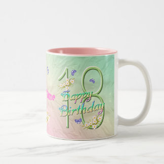 18th Birthday Butterfly Garden Mug