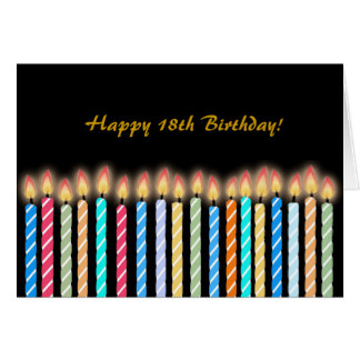 18th Birthday Candles Card Customize
