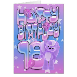 18th Birthday Card cute with little skunk