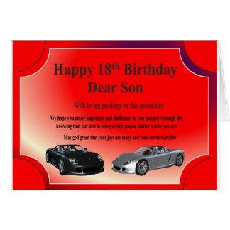 18th Birthday Card for a son