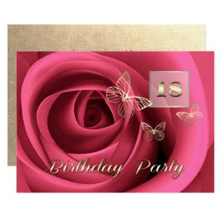 18th Birthday Celebration Custom Invitations