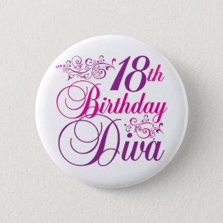 18th Birthday Diva 2 Inch Round Button