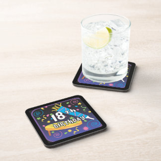 18th Birthday Favors Coaster