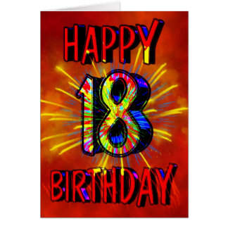18th Birthday Fireworks Card