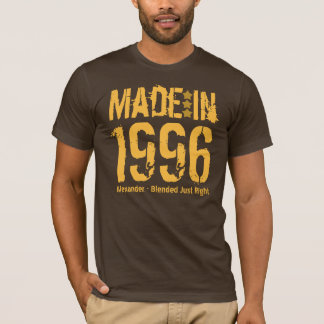 18th Birthday Made in 1996 or Any Year BROWN T-Shirt