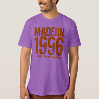 18th Birthday Made in 1996 or Any Year PURPLE Tshirts