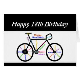18th Birthday Motivational Bike Bicycle Cyclin8 Card