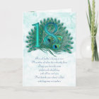 18th birthday numbered greeting cards