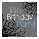 """18th Birthday Party Invitations 5.25"""" Square Invitation Card"""