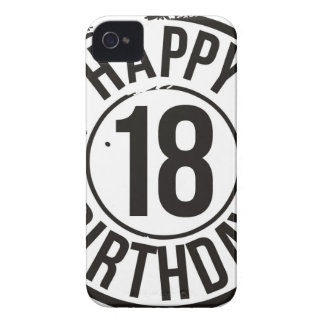 18TH BIRTHDAY STAMP EFFECT iPhone 4 Case-Mate CASES