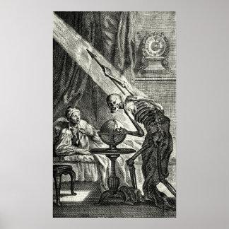 18th C. Grim Reaper Visit Poster